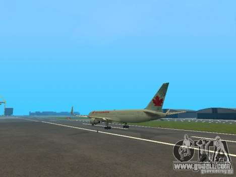 Boeing 767-300 Air Canada for GTA San Andreas back view