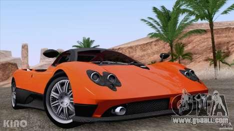 Pagani Zonda F for GTA San Andreas upper view