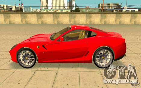 Ferrari 599 GTB Fiorano for GTA San Andreas left view