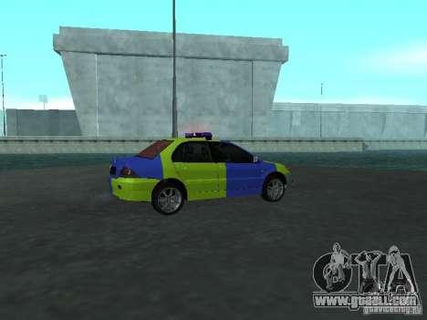 Mitsubishi Lancer Police for GTA San Andreas right view