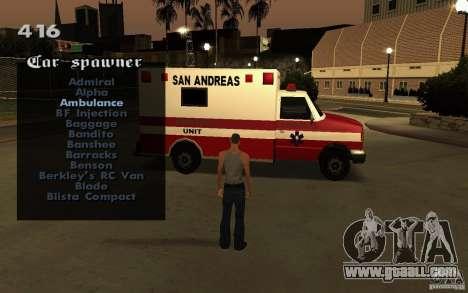 Vehicles Spawner for GTA San Andreas sixth screenshot