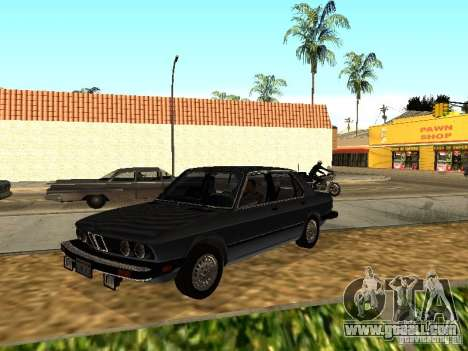 BMW 535is E28 for GTA San Andreas back view