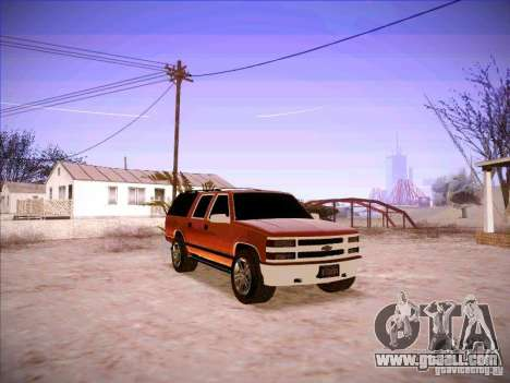Chevrolet Suburban 1998 for GTA San Andreas back view