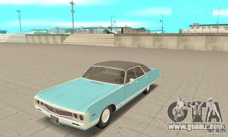 Chrysler New Yorker 4 Door Hardtop 1971 for GTA San Andreas