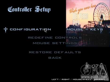 The main menu in the style of GTA 5 for GTA San Andreas fifth screenshot