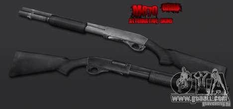 M870 Black for GTA San Andreas second screenshot