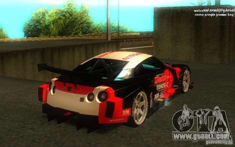 Nissan Skyline R35 GTR for GTA San Andreas interior