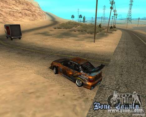 Subaru Impreza WRX Team Orange DRIFT SA-MP for GTA San Andreas back view