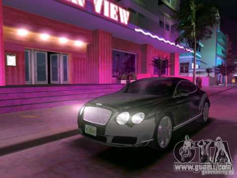 Bentley Continental GT for GTA Vice City back view