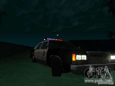 Ford Crown Victoria LTD 1992 SFPD for GTA San Andreas back view