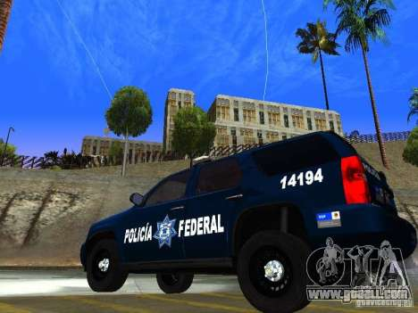 Chevrolet Tahoe 2008 Police Federal for GTA San Andreas left view