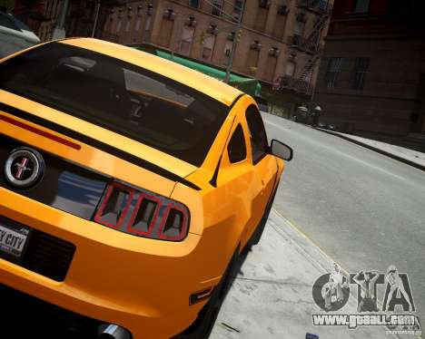 Ford Mustang Boss for GTA 4 back left view