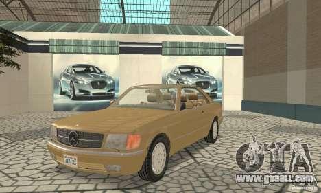 Mercedes-Benz W126 560SEC for GTA San Andreas left view