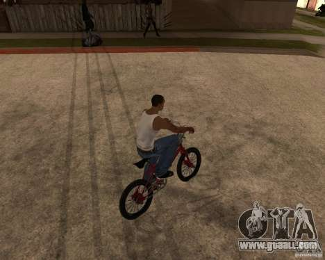 X-game BMX for GTA San Andreas back left view