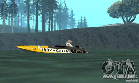 Cesa Offshore for GTA San Andreas back left view