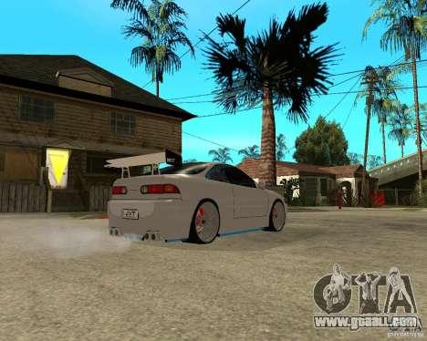 Honda Integra TUNING for GTA San Andreas back view