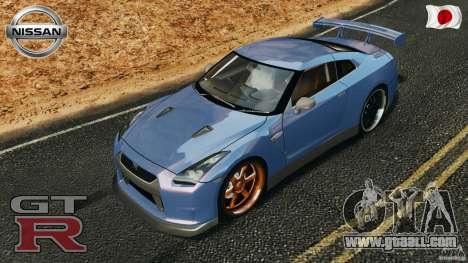 Nissan GT-R 35 rEACT v1.0 for GTA 4 bottom view