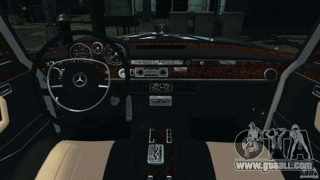 Mercedes-Benz 300Sel 1971 v1.0 for GTA 4 back view