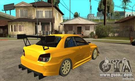 Subaru Impreza WRX STI for GTA San Andreas right view
