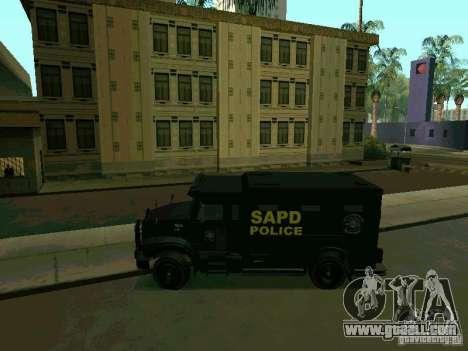 Stokade SAPD SWAT Van for GTA San Andreas left view