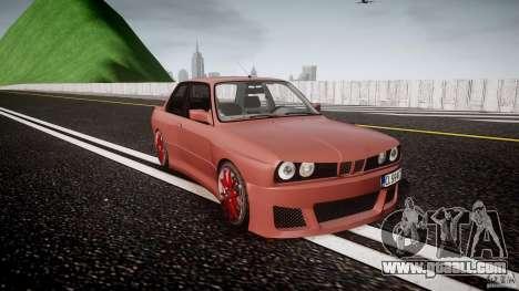BMW E30 v8 for GTA 4 back view