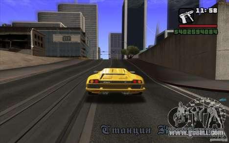 Lamborghini Diablo SV for GTA San Andreas back view