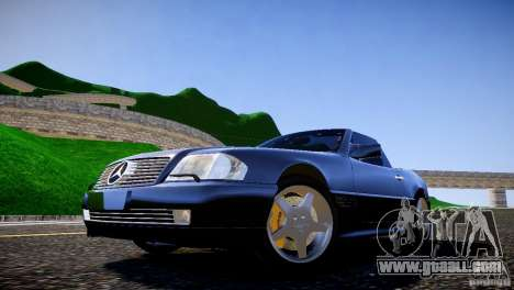 Mercedes SL 500 AMG 1995 for GTA 4 back view