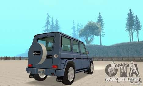 Mercedes-Benz G500 1999 v 1.1 no kengurâtnika for GTA San Andreas