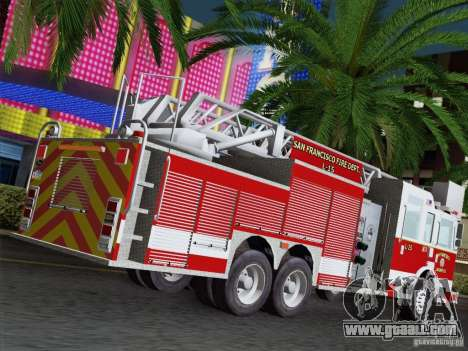Pierce Aerials Platform. SFFD Ladder 15 for GTA San Andreas back left view