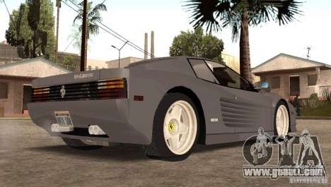 Ferarri Testarossa 1991 for GTA San Andreas left view