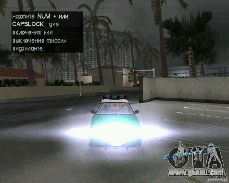 Ford Crown Victoria 2003 Police for GTA Vice City side view