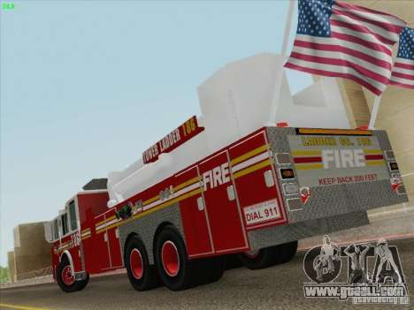 Seagrave Marauder. F.D.N.Y. Tower Ladder 186 for GTA San Andreas upper view