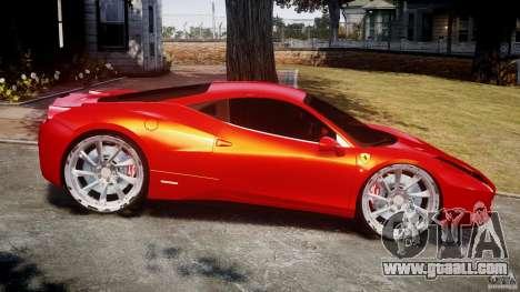 Ferrari 458 Italia Dub Edition for GTA 4 left view