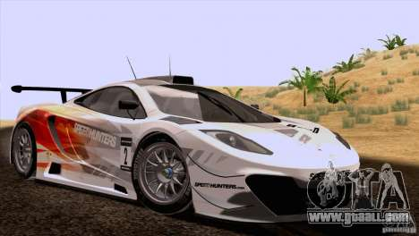 McLaren MP4-12C Speedhunters Edition for GTA San Andreas back view