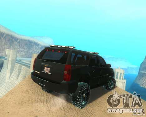 Chevrolet Suburban Crankcase Transformers 3 for GTA San Andreas back left view