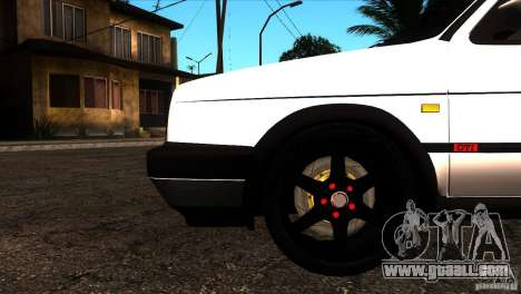 VW Golf 2 for GTA San Andreas bottom view