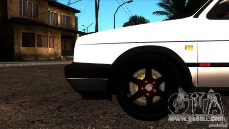 VW Golf 2 for GTA San Andreas bottom view