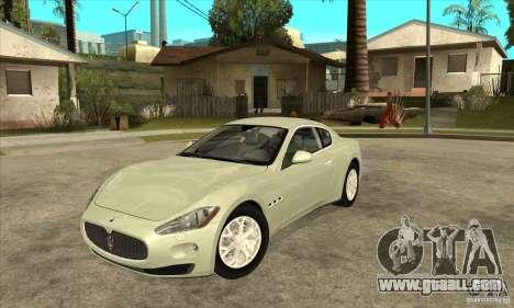 Maserati Gran Turismo 2008 for GTA San Andreas