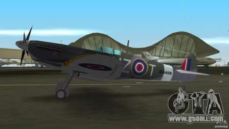 Spitfire Mk IX for GTA Vice City right view