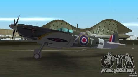 Spitfire Mk IX for GTA Vice City right view