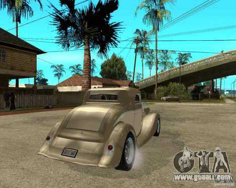 Ford 1934 Coupe v2 for GTA San Andreas back left view