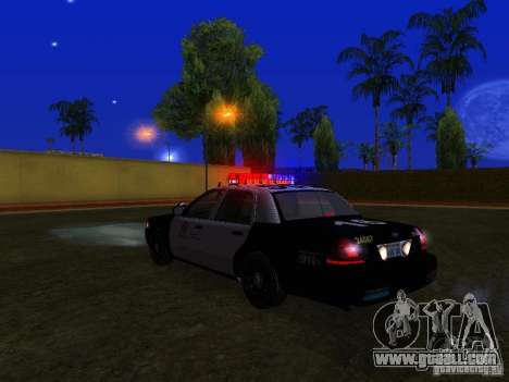 Ford Crown Victoria San Andreas State Patrol for GTA San Andreas upper view
