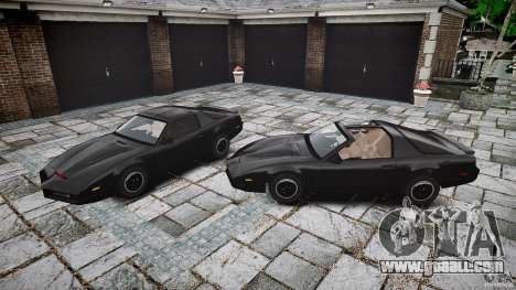 KITT Knight Rider for GTA 4 bottom view