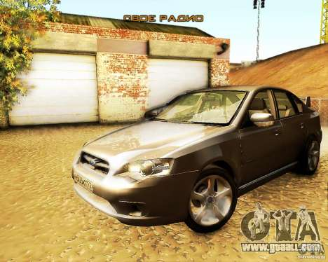 Subaru Legacy 3.0 R tuning for GTA San Andreas right view