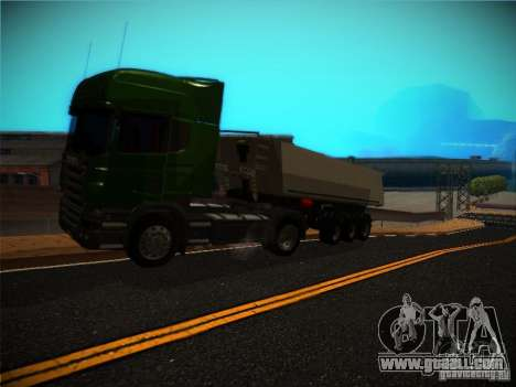 Scania R580 for GTA San Andreas back view