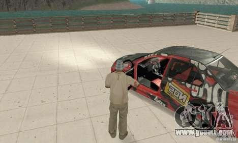 Mitsubishi Lancer Evolution 8 for GTA San Andreas back view