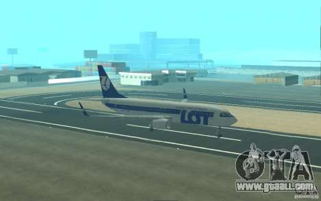 Boeing 737 LOT Polish Airlines for GTA San Andreas upper view