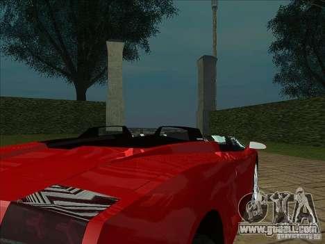Lamborghini Concept S for GTA San Andreas back view