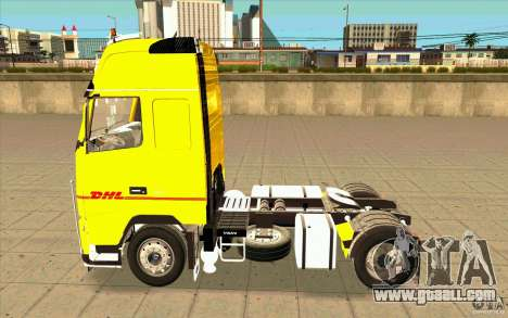 Volvo FH16 Globetrotter DHL for GTA San Andreas left view