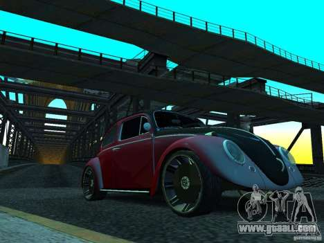 Volkswagen Fusca 1966 Tuning for GTA San Andreas